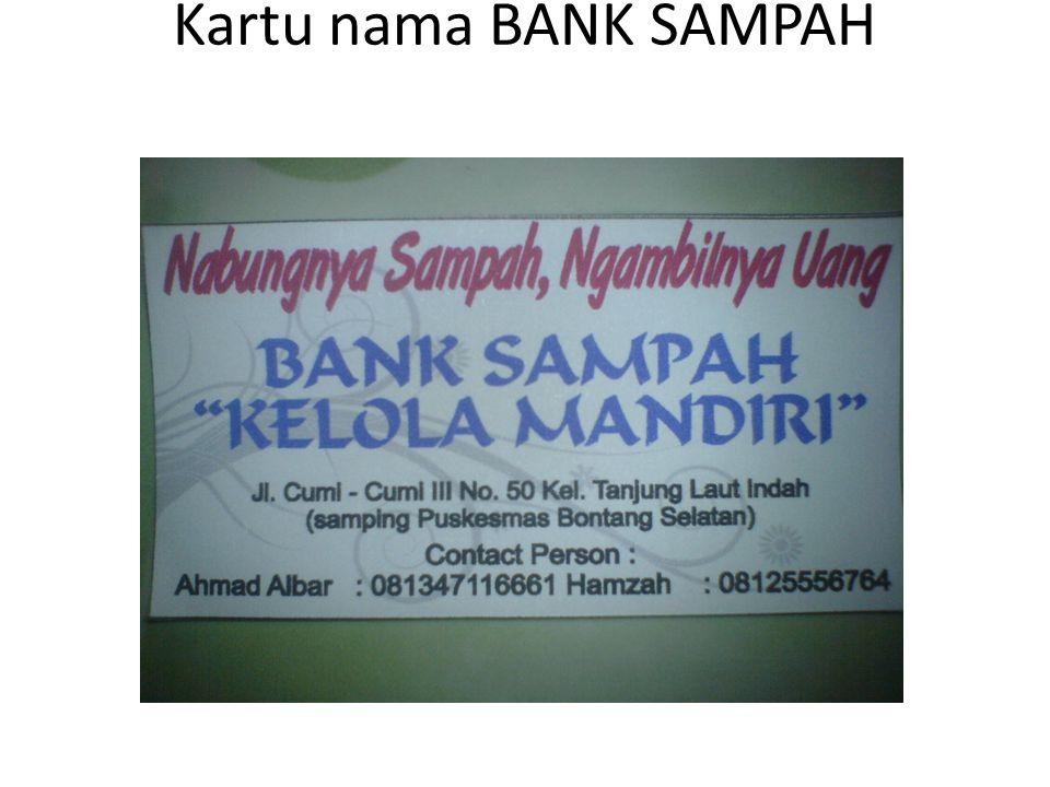 Kartu nama BANK SAMPAH