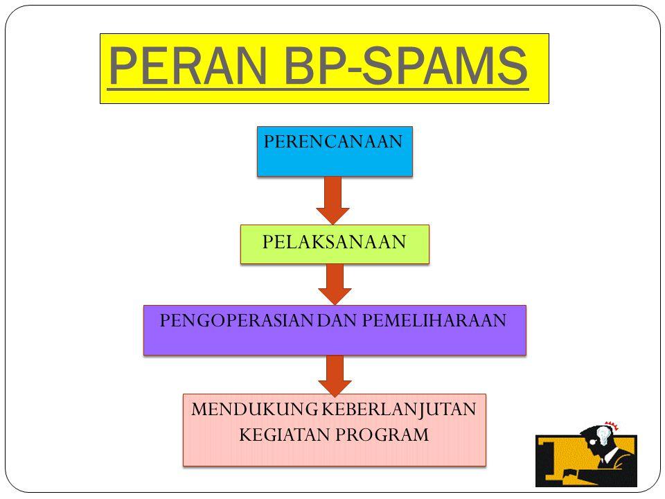 PERAN BP-SPAMS PERENCANAAN PELAKSANAAN PENGOPERASIAN DAN PEMELIHARAAN MENDUKUNG KEBERLANJUTAN KEGIATAN PROGRAM