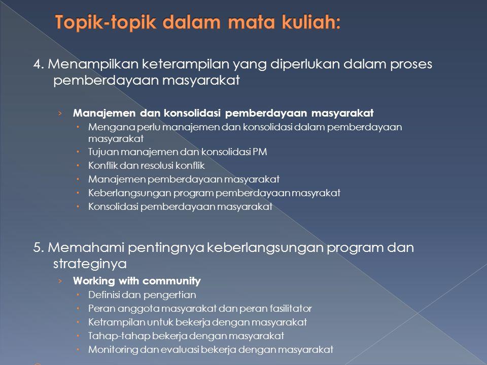 4. Menampilkan keterampilan yang diperlukan dalam proses pemberdayaan masyarakat › Manajemen dan konsolidasi pemberdayaan masyarakat  Mengana perlu m