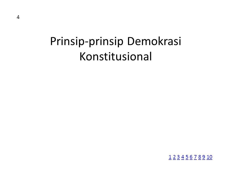 Prinsip-prinsip Demokrasi Konstitusional 4 11 2 3 4 5 6 7 8 9 102345678910