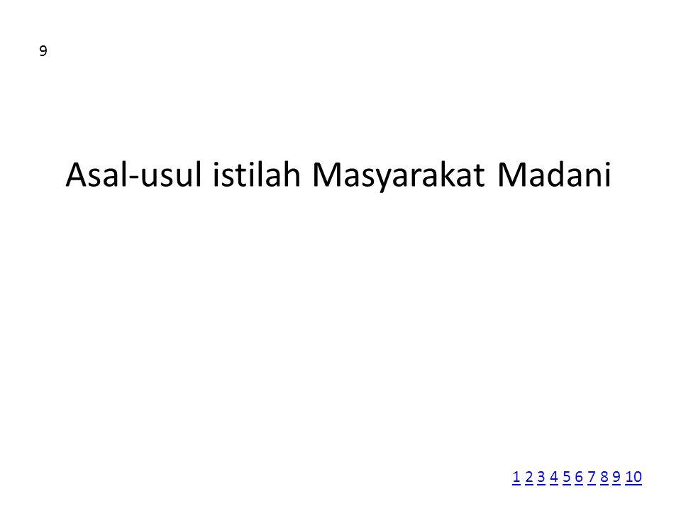 Asal-usul istilah Masyarakat Madani 9 11 2 3 4 5 6 7 8 9 102345678910