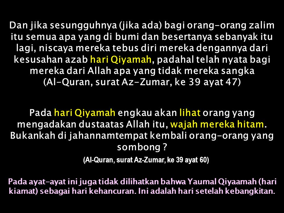 Dan tiap manusia kami akan gantungkan amal-amalnya di lehernya dan kami akan keluarkan baginya pada hari Qiyamah satu kitab yang ia akan bertemu dia d