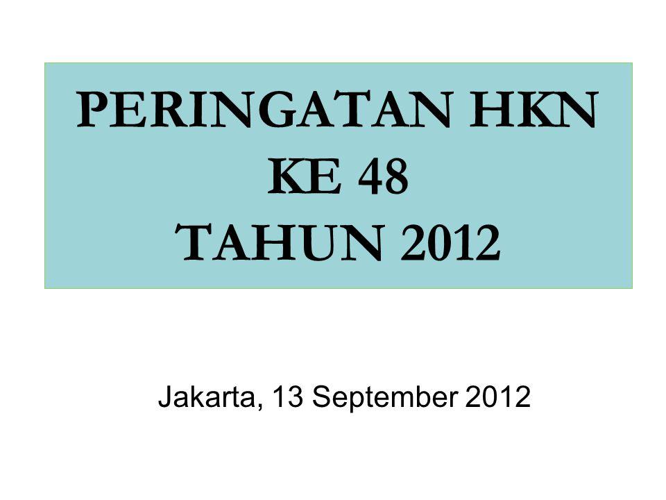 PERINGATAN HKN KE 48 TAHUN 2012 Jakarta, 13 September 2012