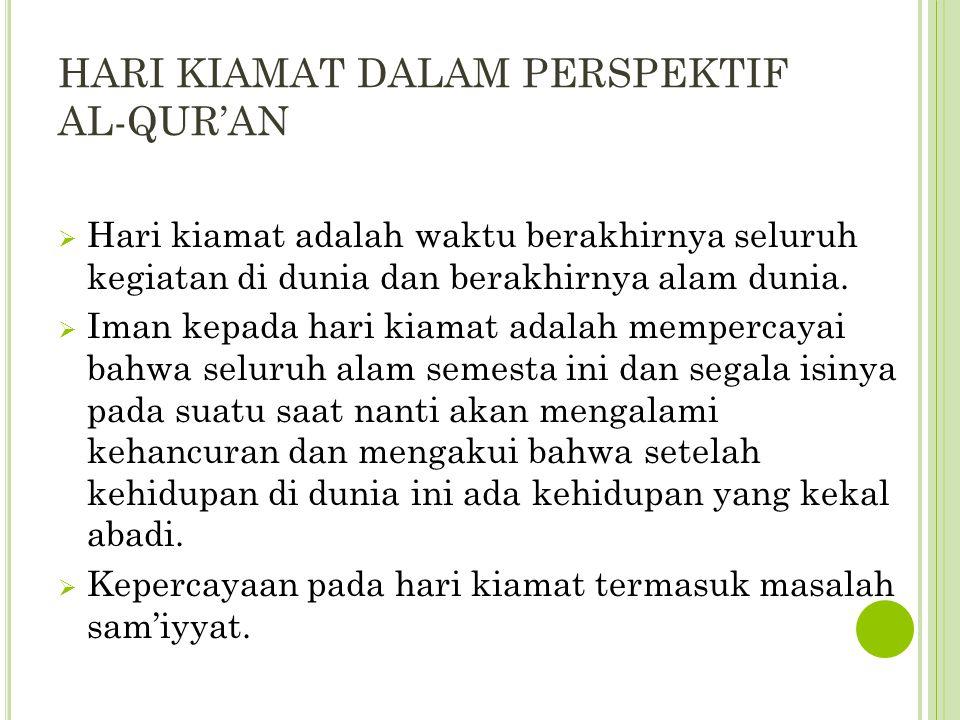 T ANDA - T ANDA T ERJADINYA H ARI K IAMAT  Terbelahnya bulan  QS Al Qamar: 1 o Telah dekat (datangnya) saat itu dan telah terbelah bulan .