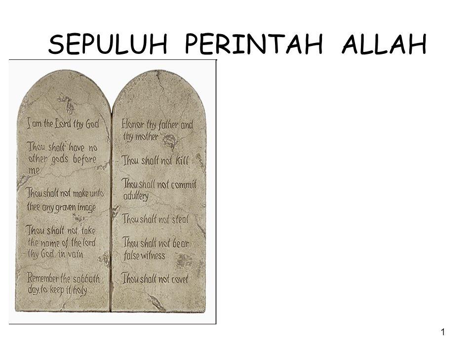 1 SEPULUH PERINTAH ALLAH