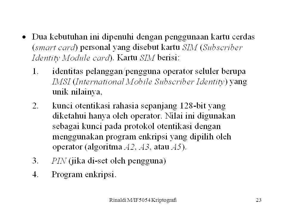 Rinaldi M/IF5054 Kriptografi23
