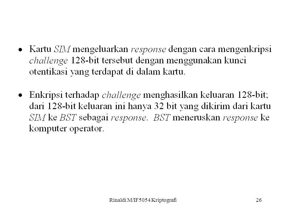 Rinaldi M/IF5054 Kriptografi26