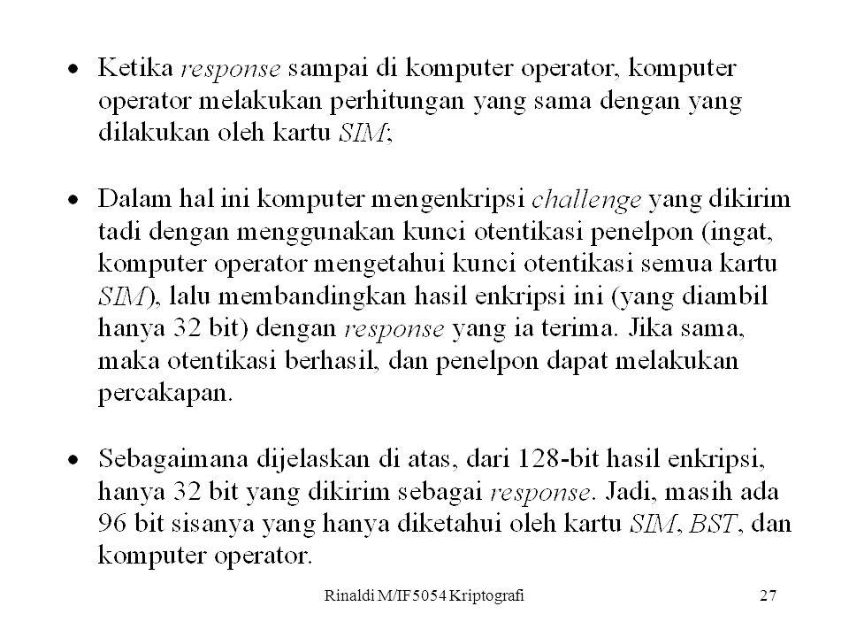 Rinaldi M/IF5054 Kriptografi27