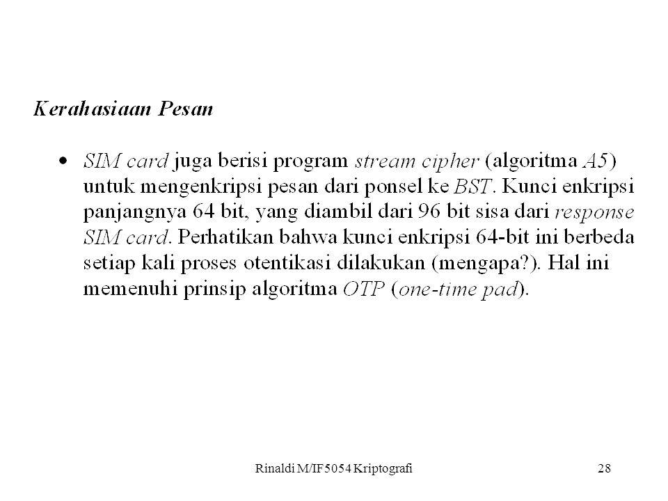 Rinaldi M/IF5054 Kriptografi28