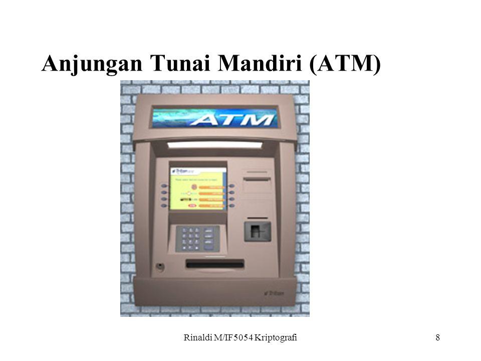 Rinaldi M/IF5054 Kriptografi8 Anjungan Tunai Mandiri (ATM)