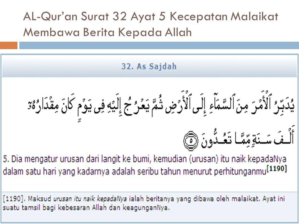 AL-Qur'an Surat 32 Ayat 5 Kecepatan Malaikat Membawa Berita Kepada Allah