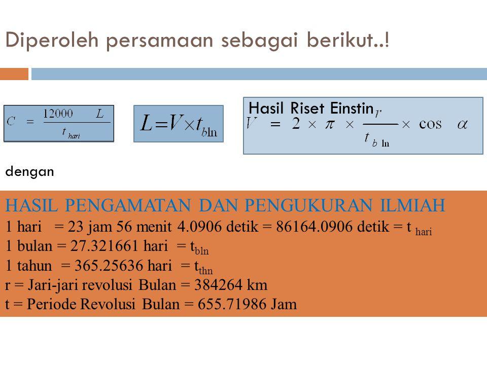 Diperoleh persamaan sebagai berikut...