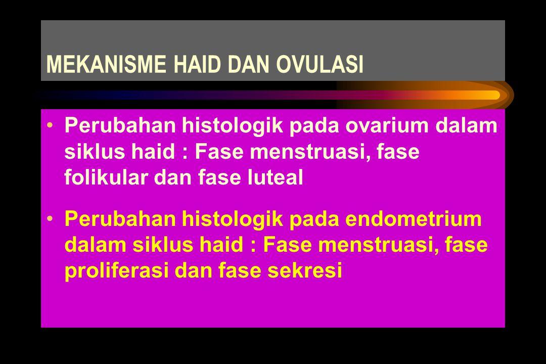 Lama haid : 3 - 5 hari ( 7 - 8 hari) Jumlah haid : 33,2 + 16 cc ( bila > 80 cc dianggap patologik)
