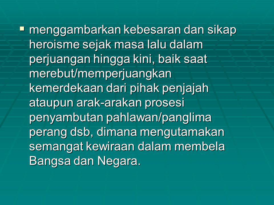 PENGHARGAAN KHUSUS  1 (satu) Penyaji Tata Rias dan Busana Terbaik mendapatkan: Piala Tetap dari Kepala Pusat Sejarah TNI.
