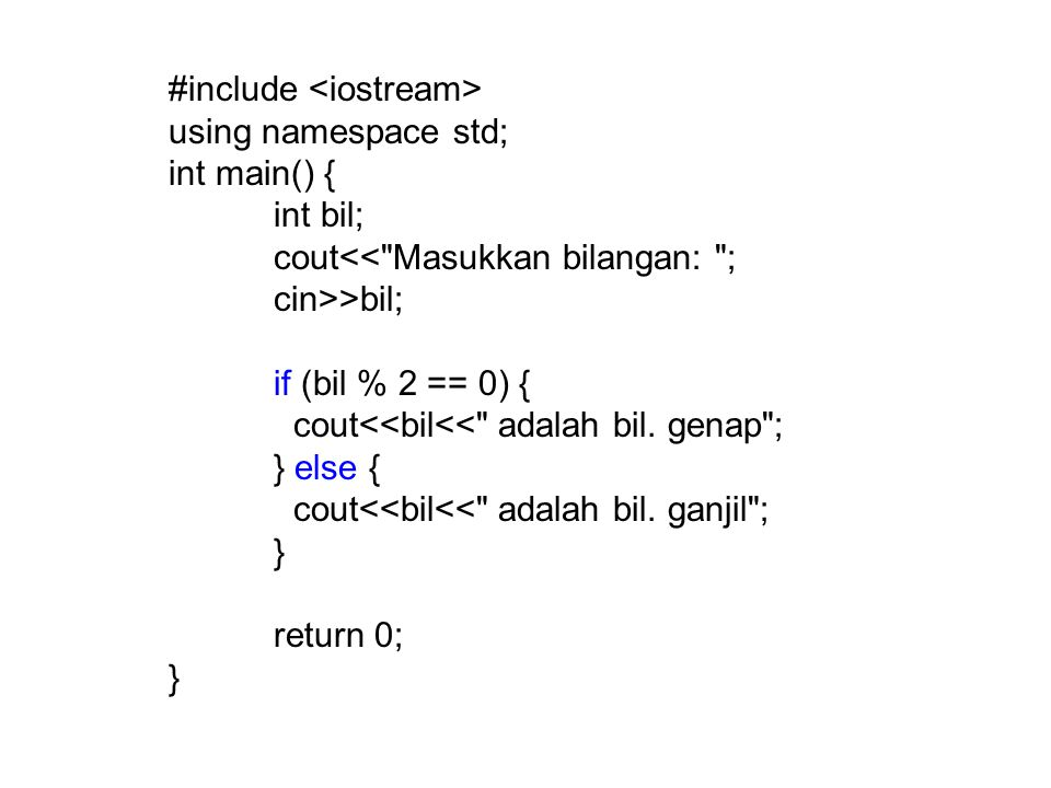 #include using namespace std; int main() { int bil; cout<<