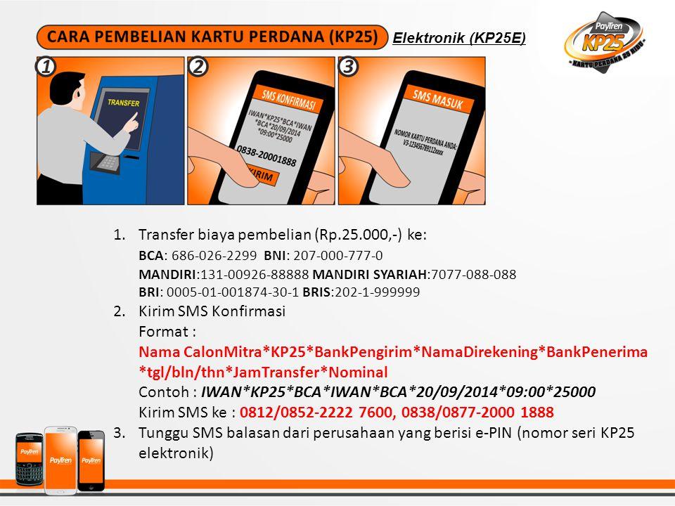 1.Ketik SMS AKTIVASI Format:ID REFERAL*NAMA CALON MITRA*NOHP*EMAIL*NOKTP*NOKP Contoh: VP12345XX*IWAN*08123456XXX*IWAN@YAHOO.COM*012345678*V3- 1234567891123456 Catatan: ID REFERAL adalah ID mitra yang mengenalkan program KP25 ini kepada anda.