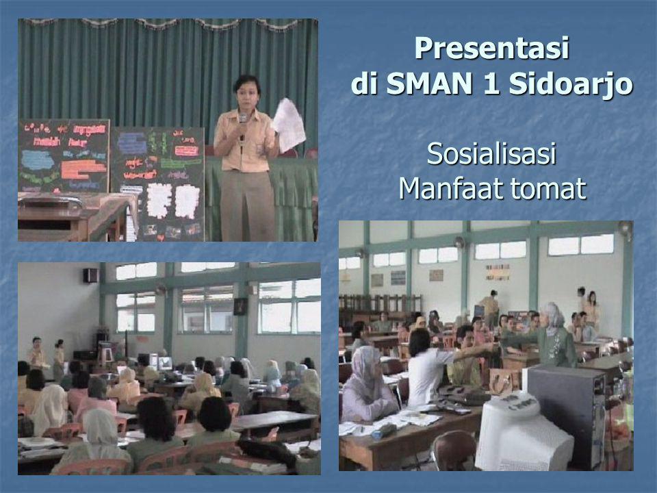 Presentasi di SMAN 1 Sidoarjo Sosialisasi Manfaat tomat