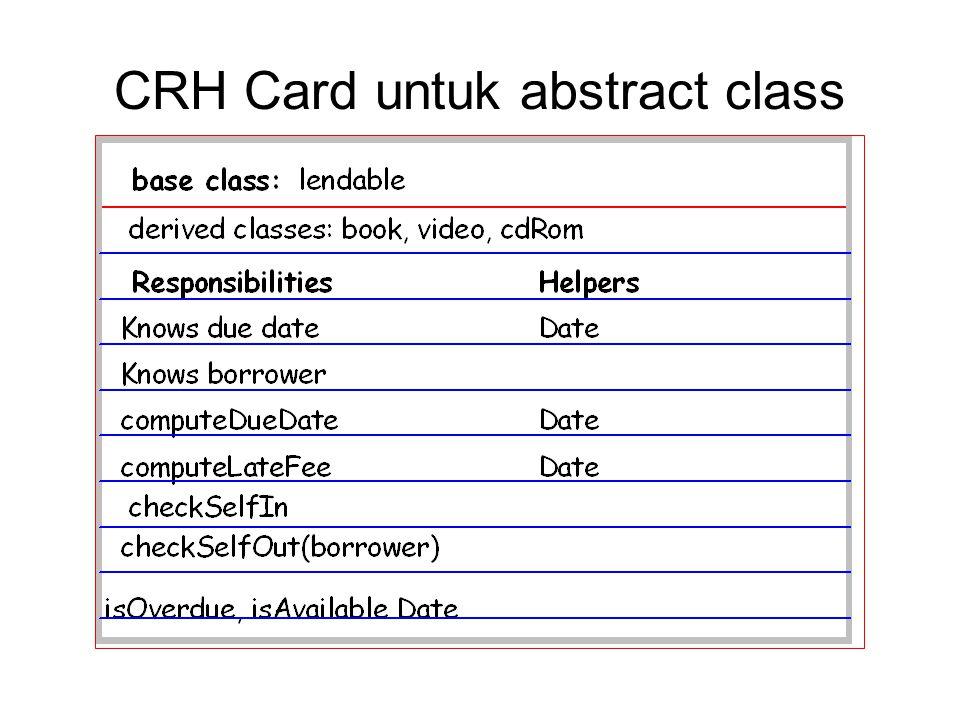 CRH Card untuk abstract class
