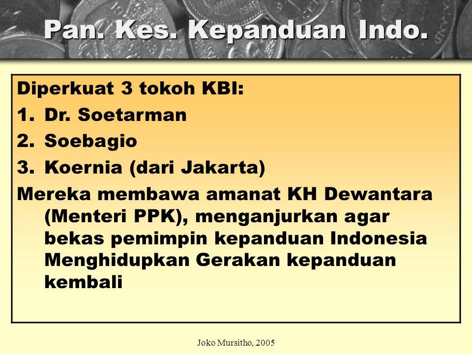 14 AGUSTUS 1961 Gerakan Pramuka diperkenalkan kepada Rakyat Indonesia, apel besar diikuti 10.000 anak dan pemuda di Jakarta, dan di tempat- tempat lain juga diselenggarakan.