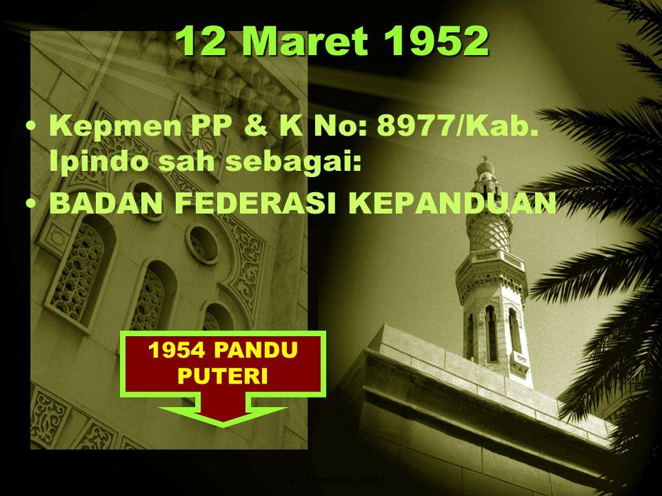16 September 1951 SEPULUH HARI KEMUDIAN: WAKIL-WAKIL PANDU RAKYAT INDONESIA, HW, AL-IRSYAD, PANDU ISLAM INDONESIA, KEPANDUAN ANGKATAN MUSLIM INDONESIA