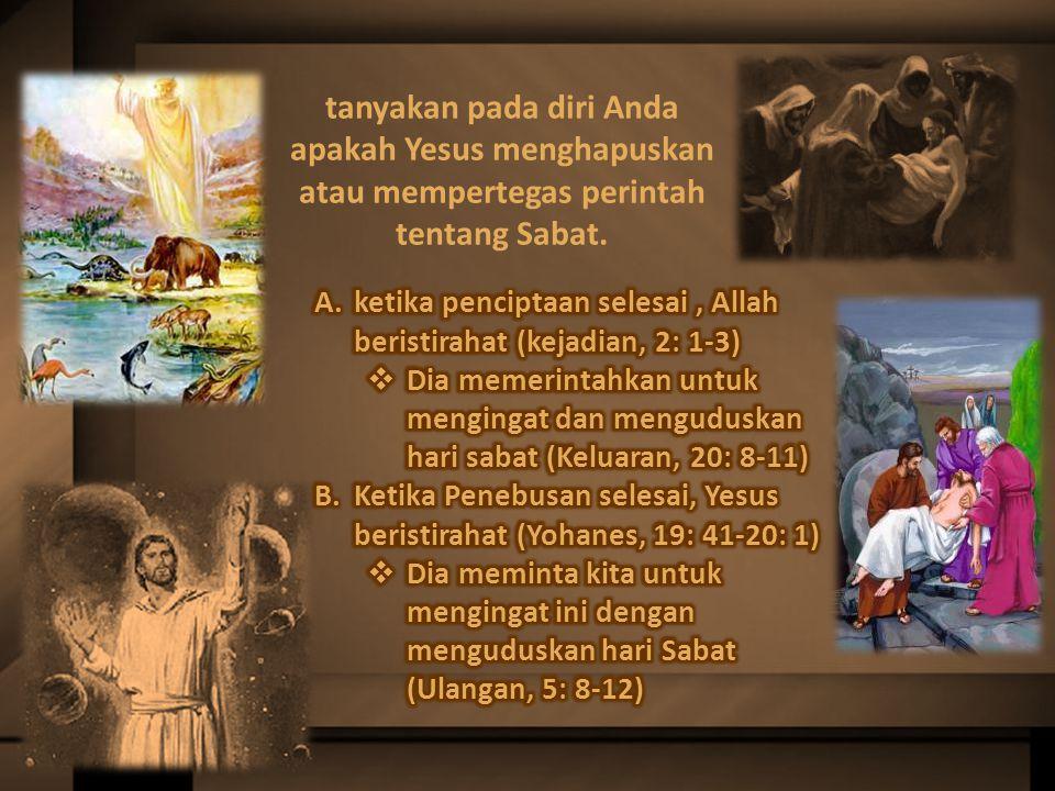 Ketika kita merayakan hari Sabat, mari kita ingat bahwa itu adalah tanda yang surga telah berikan kepada manusia.