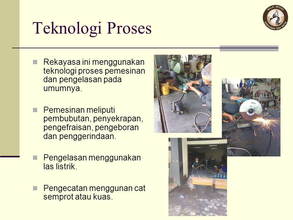 Teknologi Proses Rekayasa ini menggunakan teknologi proses pemesinan dan pengelasan pada umumnya. Pemesinan meliputi pembubutan, penyekrapan, pengefra