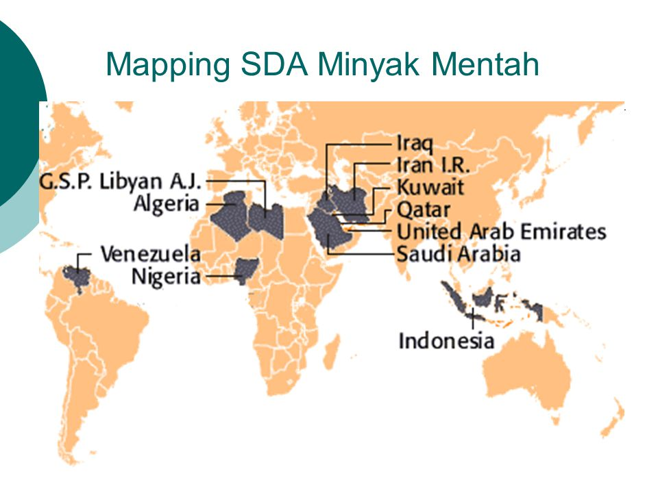 Mapping SDA Minyak Mentah