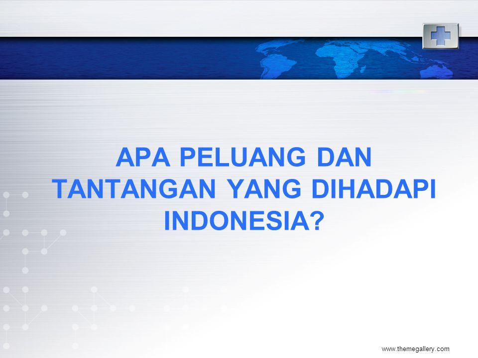 APA PELUANG DAN TANTANGAN YANG DIHADAPI INDONESIA? www.themegallery.com