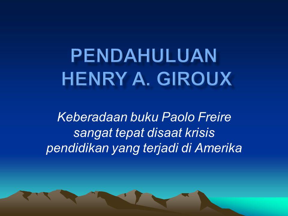 Sosok Paulo Freire Freire lahir di Recife, Braszilia tahun 1912. Meraih gelar doktor pendidikan dari Universitas Recife pada tahun 1959. Tahun 1964-19