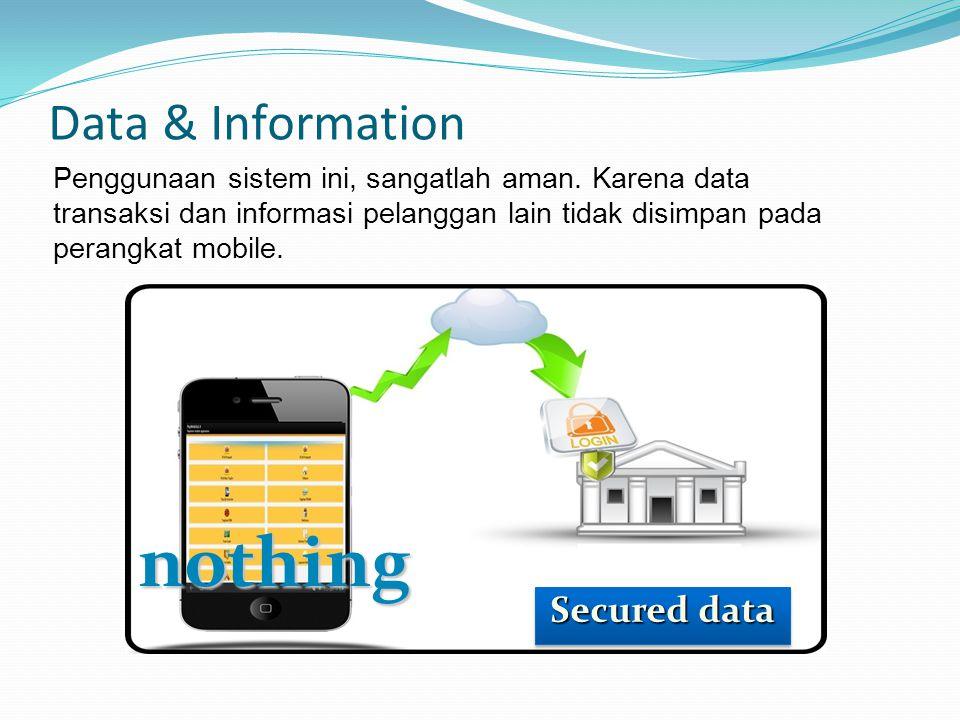 Data & Information Penggunaan sistem ini, sangatlah aman.