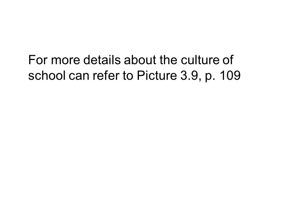 For more details about the culture of school can refer to Picture 3.9, p. 109