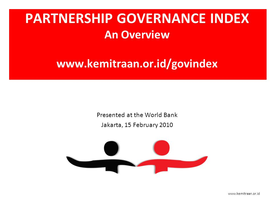 A Brief Background: Why Partnership Governance Index.