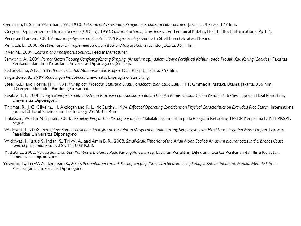 Oemarjati, B. S. dan Wardhana, W., 1990. Taksonomi Avertebrata: Pengantar Praktikum Laboratorium. Jakarta: UI Press. 177 hlm. Oregon Departement of Hu