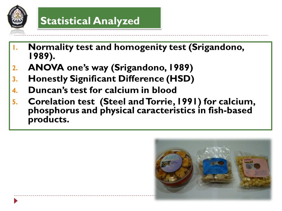 Statistical Analyzed 1.Normality test and homogenity test (Srigandono, 1989).