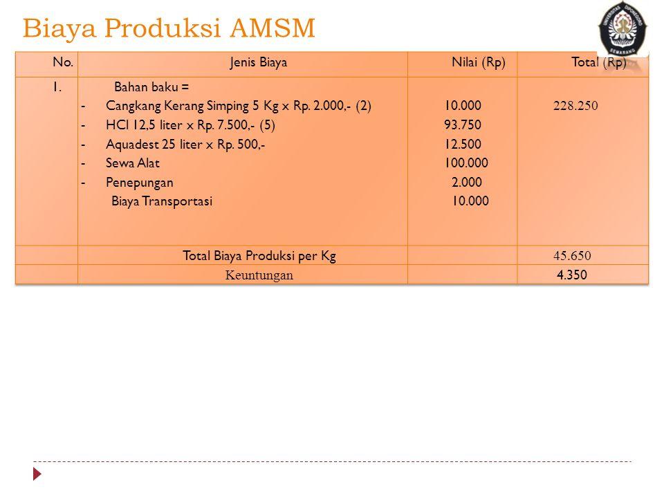 Biaya Produksi AMSM