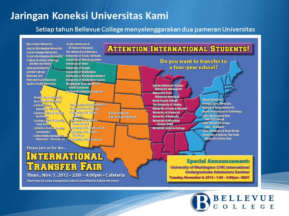 Setiap tahun Bellevue College menyelenggarakan dua pameran Universitas Jaringan Koneksi Universitas Kami