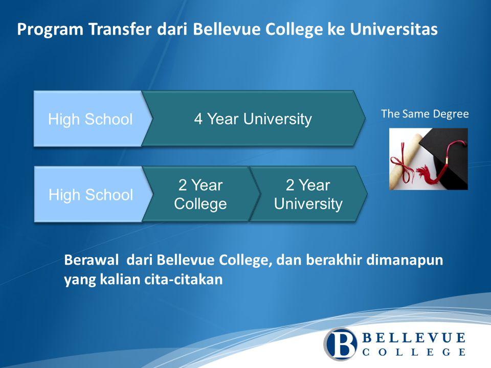 Program Transfer dari Bellevue College ke Universitas Berawal dari Bellevue College, dan berakhir dimanapun yang kalian cita-citakan