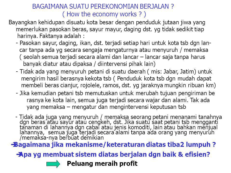 BAGAIMANA SUATU PEREKONOMIAN BERJALAN .( How the economy works .