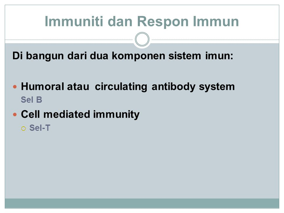 Respon imun terhadap antigen First exposure to antigen A :  begin to make low levels of antibody in about a week Second exposure to antigen A :  produces a much faster response, and  several orders of magnitude higher levels of antibody.