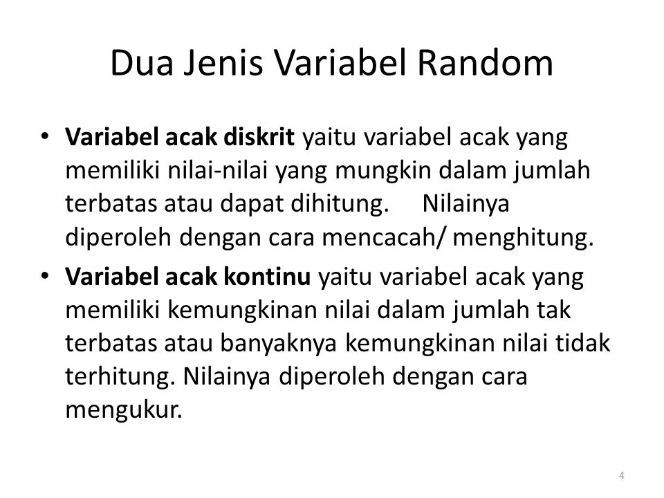 EXAMPLEDistinguishing Between Discrete and Continuous Random Variables Determine whether the following random variables are discrete or continuous.