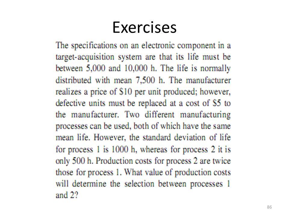 Exercises 86
