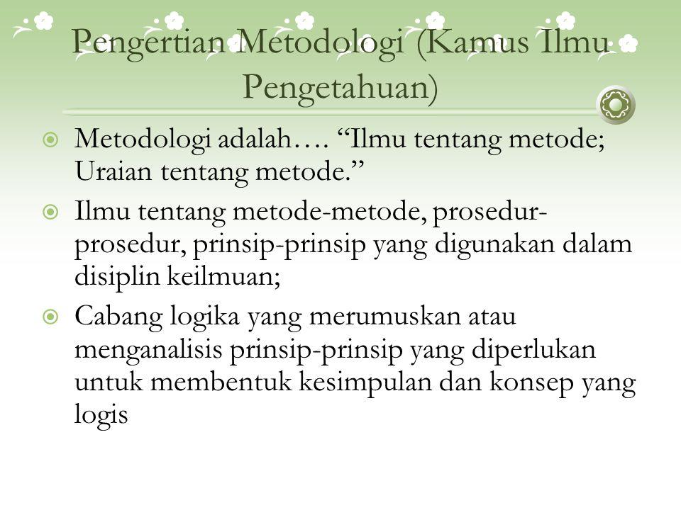 What is Methodology .