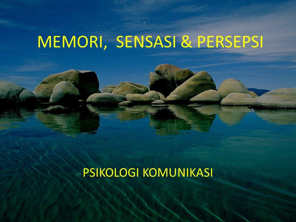 MEMORI, SENSASI & PERSEPSI PSIKOLOGI KOMUNIKASI