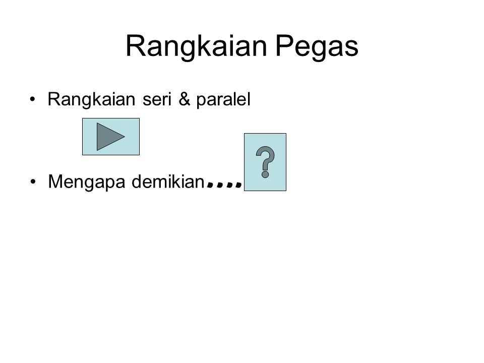 Susunan pegas seri atau paralel paralel seri Campuran
