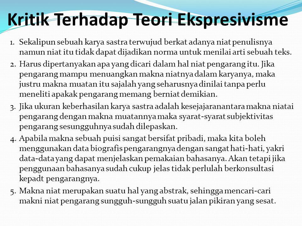 Kritik Terhadap Teori Ekspresivisme 1.
