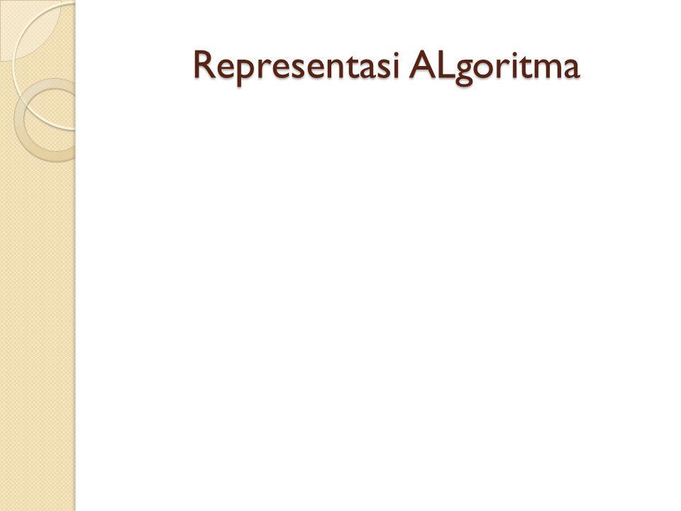 Representasi ALgoritma