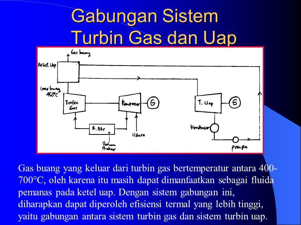 Gabungan Sistem Turbin Gas dan Uap Gas buang yang keluar dari turbin gas bertemperatur antara 400- 700  C, oleh karena itu masih dapat dimanfaatkan s