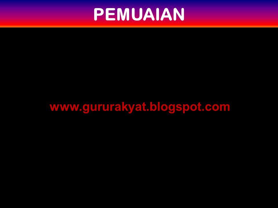 PEMUAIAN www.gururakyat.blogspot.com