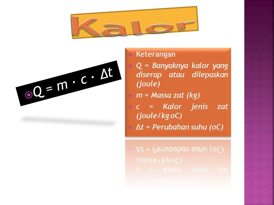  Q = m ∙ c ∙ Δt