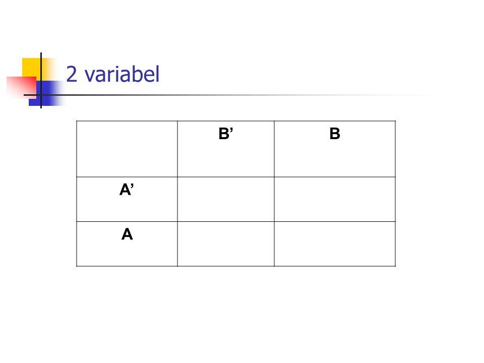 2 variabel B'B A' A